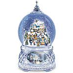 Thomas Kinkade Home For The Holidays Lighted Christmas Musical Snowglobe