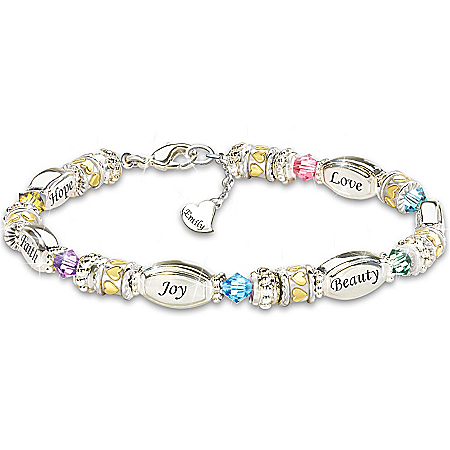 Women's Bracelet: Sparkling Wishes Personalized Bracelet – Personalized Jewelry