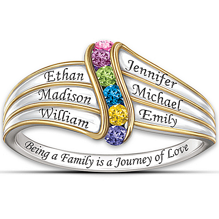 Women's Ring: Journey Of Love Personalized Ring