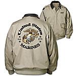 Jacket - Marines Forever Men's Twill Jacket
