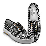 Zebra Luxe Women's Canvas Shoes With Zebra Print