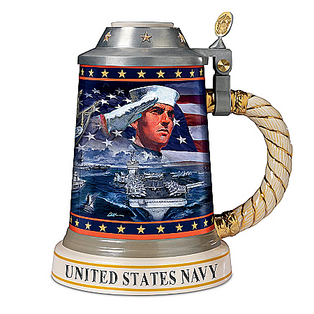 Stein: Strength And Honor U.S. Navy Pride Stein