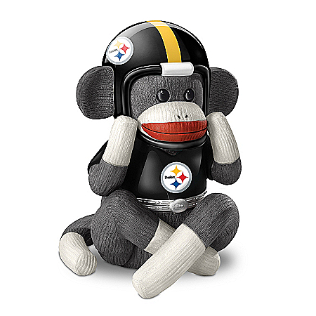 Music Box: Pittsburgh Steelers Sock Monkey Music Box