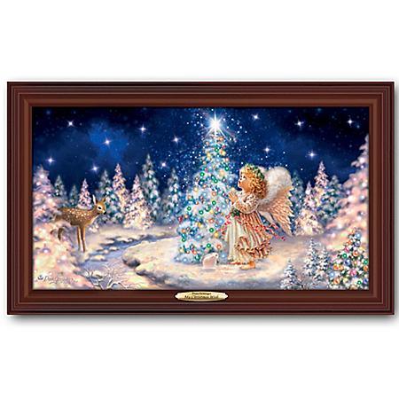 Dona Gelsinger My Christmas Wish Illuminated Canvas Print Wall Decor Featuring Angel