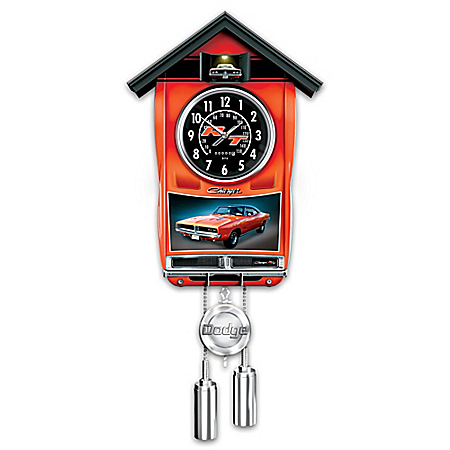 Handcrafted 1969 Dodge Charger Cuckoo Clock With Light And Sound