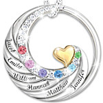 Necklace Family Circle Of Love Personalized Sterling Silver Necklace