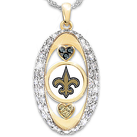 For The Love Of The Game New Orleans Saints Pendant Necklace