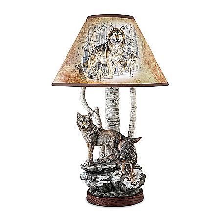 Wolf Decor Lamp: Spirits Of The Forest Al Agnew Wolf Lamp