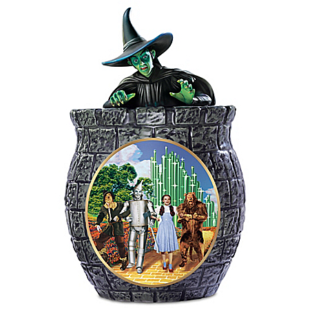 THE WIZARD OF OZ Collectible Cookie Jar With The Wicked Witch