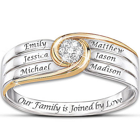 Ring: Joined In Love Personalized Diamond Ring