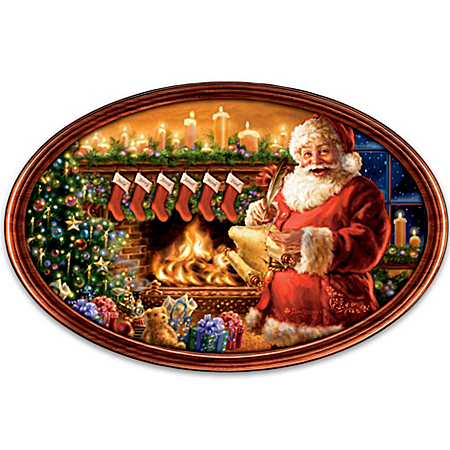 Cherished Christmas Memories Personalized Masterpiece Plate by Dona Gelsinger