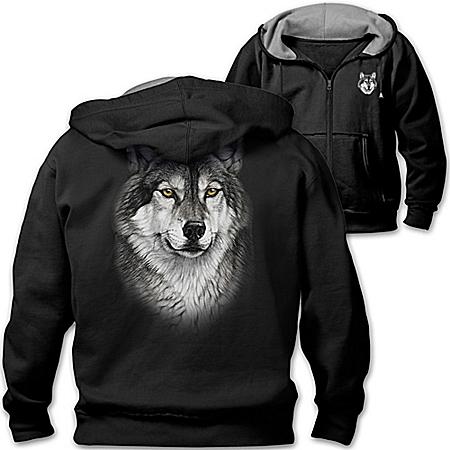 Hoodie: Al Agnew Lone Wolf Men's Hoodie