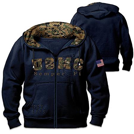 Hoodie: United States Marines Semper Fi Men's Hoodie