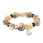 Bracelet - Reflections Of Love Yorkie Art-Glass Beaded Bracelet
