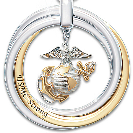 Necklace: USMC Strong Pendant Necklace