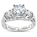 Ring - Once Upon A Romance Personalized Diamonesk Bridal Ring