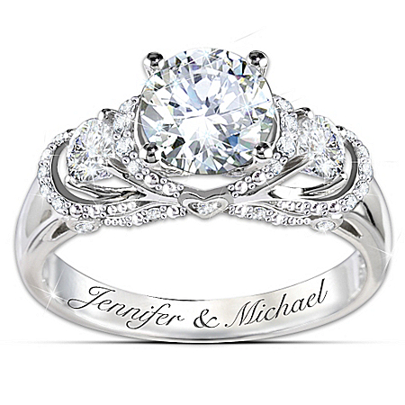 Ring: Once Upon A Romance Personalized Diamonesk Bridal Ring – Personalized Jewelry
