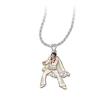 Necklace: Hip Shakin' Elvis Signature Dance Moves Pendant Necklace