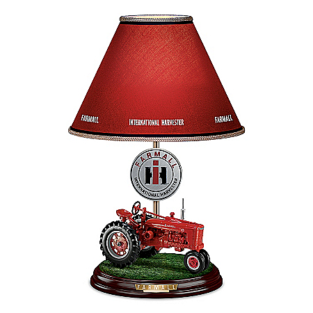 """Farmall Heritage Lamp With Model """"H"""" Farmall Tractor Base"""