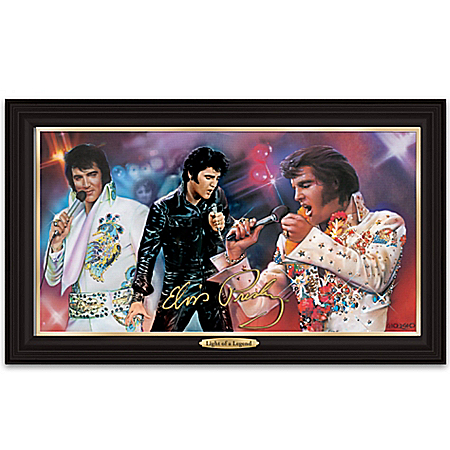 Wall Decor: Elvis: Light Of A Legend Illuminating Canvas Print Wall Decor