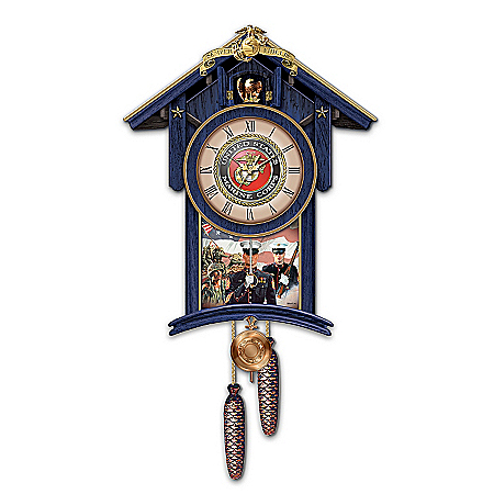 Cuckoo Clock: Semper Fi For All Time United States Marines Cuckoo Clock
