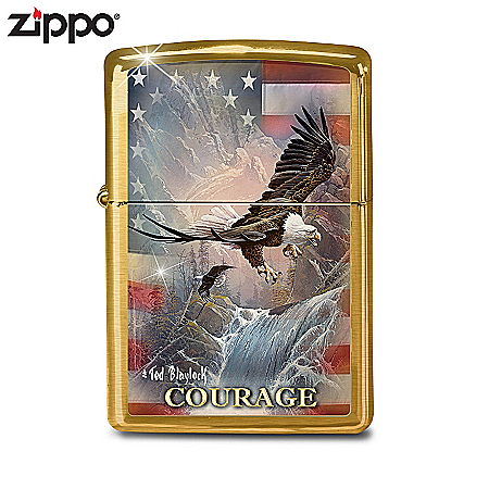 Lighter: Limited Edition Courage Zippo Lighter Featuring Ted Blaylock Art