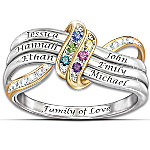 Ring - Our Family's Forever Love Personalized Birthstone Engraved Ring