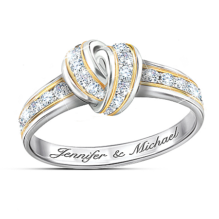 Wrapped In Love Personalized Diamond Knot Ring