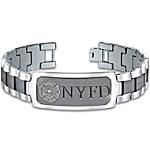 Bracelet - Duty, Honor & Courage Firefighter's Personalized Stainless Steel Bracelet