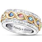 Family Is Forever Personalized Woman's Ring