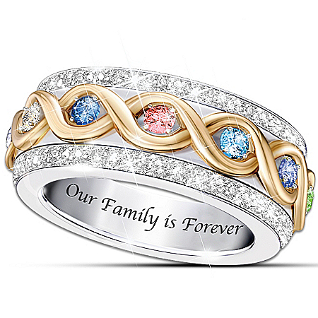 Women's Ring: Family Is Forever Personalized Ring