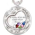 Necklace A Mother Holds Her Child's Heart Personalized Birthstone Necklace