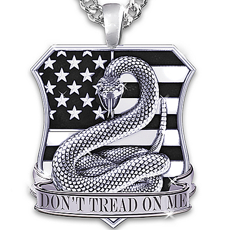 Necklace: American Pride Don't Tread On Me Men's Pendant Necklace