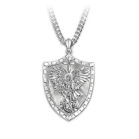 Men's Necklace: Triumph Of St. Michael Pendant Necklace