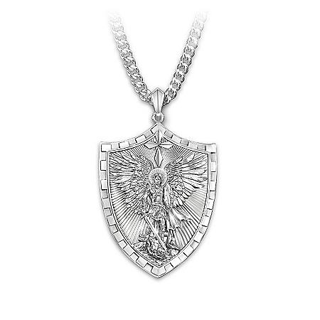 Men's Necklace: Triumph Of St. Michael Pendant Necklace