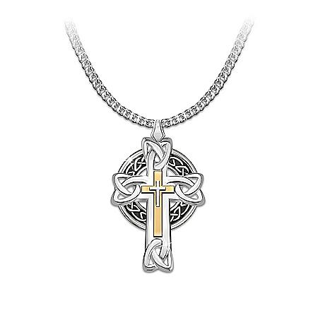 Necklace: Celtic Inspiration Men's Cross Pendant Necklace