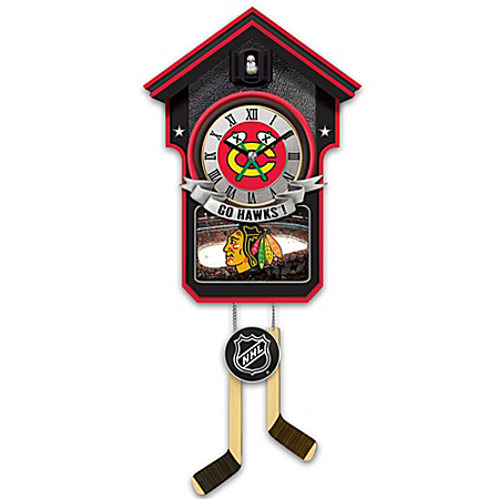 Chicago Blackhawks Cuckoo Clock