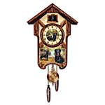 Cuckoo Clock - Boisterous Black Labs Cuckoo Clock