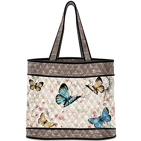 Lena Liu Wings Of Inspiration Tote Bag With Butterfly Art