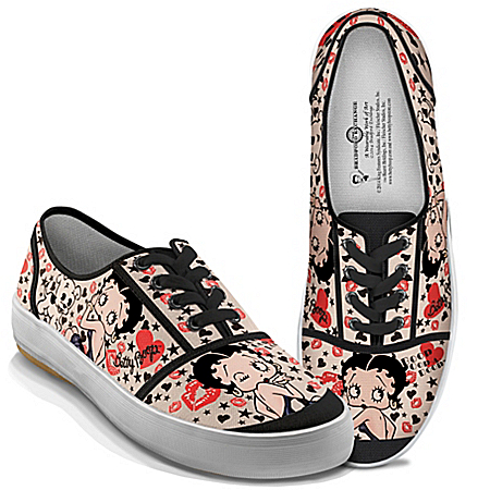 Betty Boop Retro Art Women's Canvas Shoes