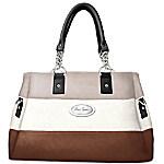 Handbag - Alfred Durante Astoria Stripe Satchel Handbag