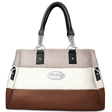 Handbag: Alfred Durante Astoria Stripe Satchel Handbag