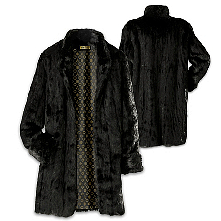 Alfred Durante The Liz Black Faux Fur Women's Coat