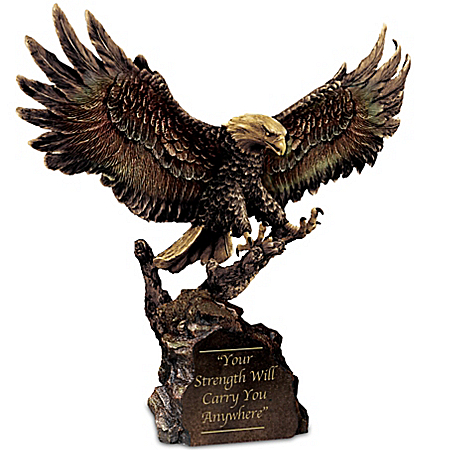 Your Strength Will Carry You Anywhere - Cold-Cast Bronze Eagle Sculpture
