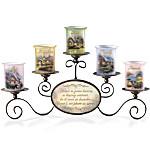 Candleholders - Thomas Kinkade Warmth Of Home Candleholder Set