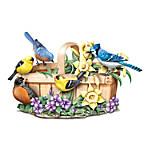 Springtime Serenade Lifelike Songbird Touch-Activated Sculpture