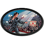 Plate: The King Of My Heart: Elvis Personalized Masterpiece Framed Collector Plate
