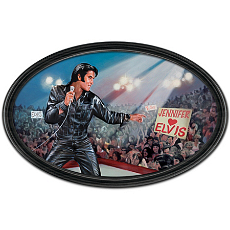 Elvis Plates Plate: The King Of My Heart: Elvis Personalized Masterpiece Framed Collector Plate