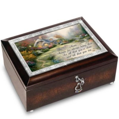 Bradford Exchange Thomas Kinkade Forever In Mother's Heart Personalized