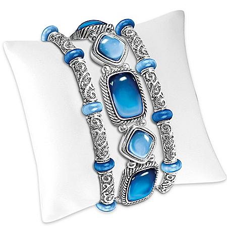 Bracelet: Indigo Bliss 3-Piece Bracelet Set